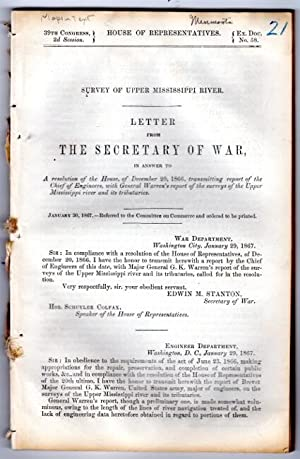 Letter from the Secretary of War, in answer to a resolution of the House, of December 20th, 1866, ...