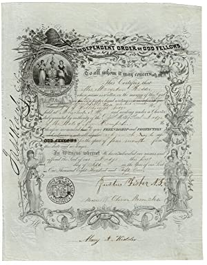 Independent Order of Odd Fellows. To all whom it may concern, this certifies that.