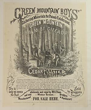 Green mountain boys gathering materials for Paine's celebrated Green Mountain Balm of Gilead and ...