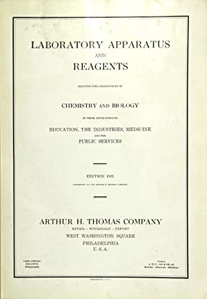 Laboratory apparatus and reagents selected for laboratories: Thomas Co., Arthur