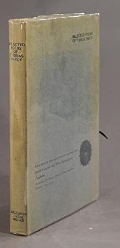 Selected poems . with portrait & title page design engraved on wood by William Nicholson: HARDY...