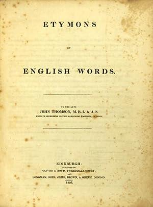 Etymons of English words: THOMSON, JOHN
