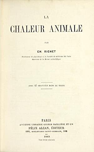 La chaleur animale: Richet, Charles