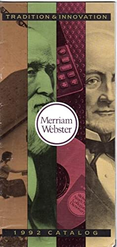 Merriam-Webster 1992 catalog [cover title]
