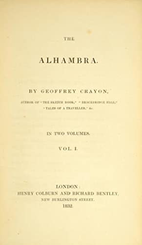 The Alhambra. By Geoffrey Crayon: Irving, Washington]