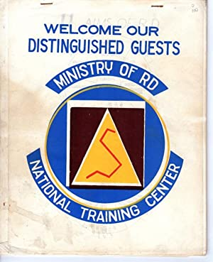 Welcome our distinguished guests. Ministry of R[ural] D[evelopment], National Training Center [...
