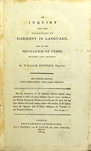 An inquiry into the principles of harmony in language, and of the mechanism of verse, modern and ...