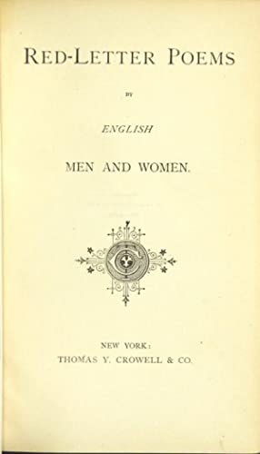 Red-letter poems by English men and women