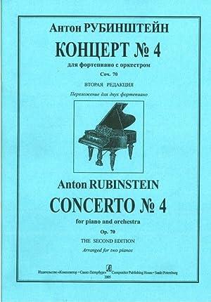 Concerto No. 4 for piano and orchectra.: Rubinstein Anton