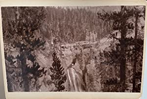 (PHOTOGRAPH OF CRYSTAL CASCADE, YELLOWSTONE)