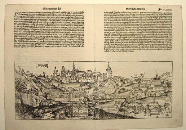 Prag (Gesamtansicht).: PRAG. Schedel, Hartmann: