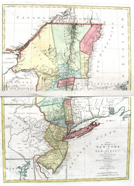 A Map of the provinces of New-York and ...