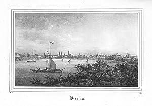 Breslau (Gesamtansicht, Blick von Norden über die Oder).: BRESLAU.