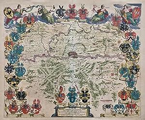 Novam hanc Territorii Francofurtensis tabulam .: FRANKFURT/M., UMGEBUNGSKARTE. Blaeu: