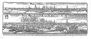 Münster In Westphalen (2 Ansichten auf 1 Blatt).: MNSTER - Merian: