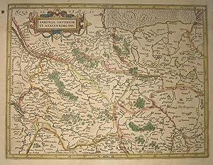 Saxonia inferior et Meklenborg duc(atus). Per Gerardum Mercatorem / Sumptibus Henrici Hondij.:...