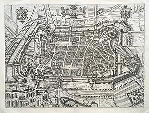 Luneborch (Vogelschau).: LÜNEBURG, VOGELSCHAU. Braun, Georg / Hogenberg, Frans: