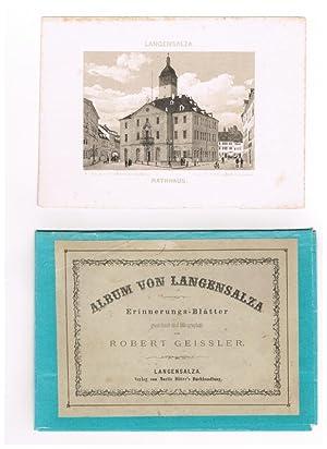Album von Langensalza. Erinnerungs-Blätter gezeichnet und lithographirt von Robert Geissler.: ...