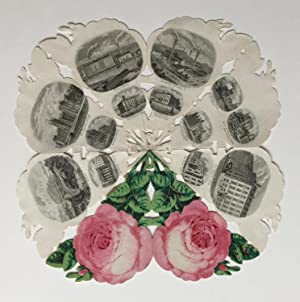 Belfast. Souvenir-Stahlstich in Rosenform).: BELFAST / NORTHERN IRELAND. Adler, C.: