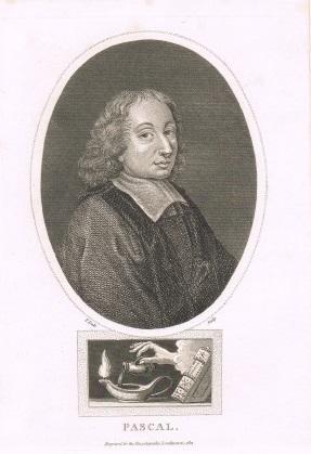 Blaise Pascal (Brustbild im Oval).: PASCAL BLAISE PORTRAIT - Dale, J.: