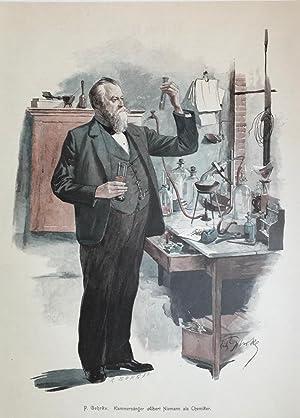 Kammersänger Albert Niemann als Chemiker.: NIEMANN, ALBERT / RICHARD WAGNER / HELDENTENOR / ...