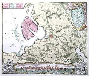 Particulier Carte der Gegend von Wismar nebst der Insul Poel.: WISMAR - Varenius, Heinrich / Homann...