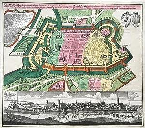 Lüneburgum ad flumen Elmenaw, ex ruderibus Bardovicensibus aucta, in societatem Hanseaticarum ...