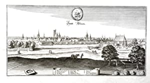 Statt Ultzen (Panorama-Ansicht).: UELZEN. Merian: