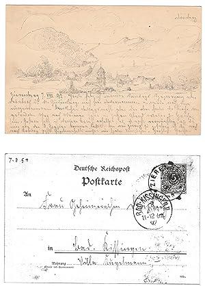 Zierenberg (Ortsansicht).: ZIERENBERG bei KASSEL. Duisberg, Carl (?) (Wuppertal-Barmen 1861-1935 ...