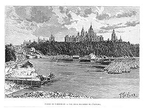 Palais du Parlement - Vue prise des bords de l'Ottawa (Gesamtansicht).: OTTAWA. Taylor, T.:
