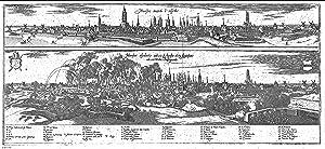 Munster avanti l'assedio (=Ansicht von Münster vor der Belagerung; und:) Munster ...