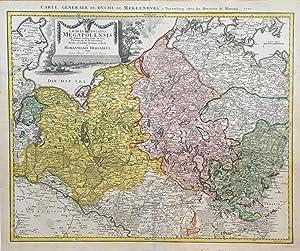 Charta Ducatus Megapolensis ad statum hodiernum in: MECKLENBURG. Homanns Erben: