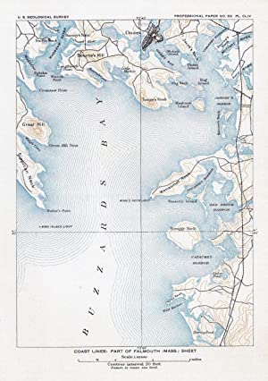 Coast lines: Part of Falmouth (Mass.) sheet (= Onset - Catomet Harbour),: MASSACHUSETTS ONSET -