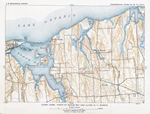 Coast lines: Part of Sodus Bay and Clyde (N.Y.) sheets,: NEW YORK, SODUS BAY.