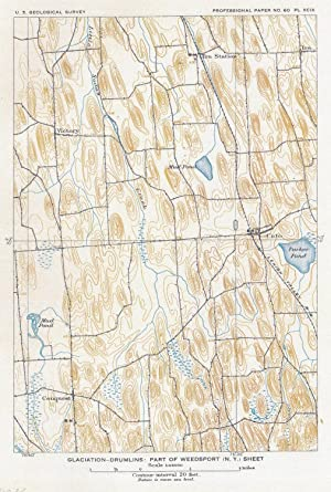 Glaciation-drumlins: Part of Weedsport (N.Y.) sheet (=Cato).: NEW YORK / WEEDSPORT.