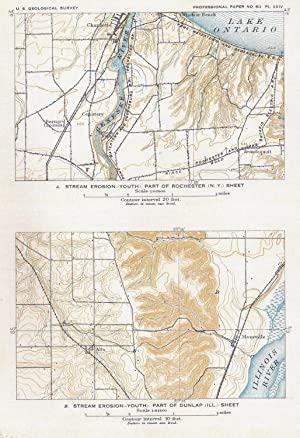 Stream erosion-youth: Part of Rochester (N.Y., =Charlotte) + Part of Dunlap (Ill.) sheet (=...