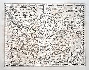 Saxonia inferior et Meklenborg duc(atus). Per Gerardum: NIEDERSACHSEN / MECKLENBURG.