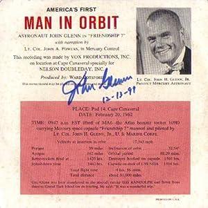 AMERICA'S FIRST MAN IN ORBIT ** Signed Rarity **: John Glenn