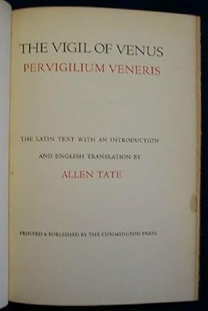The Vigil Of Venus, Pervigilum Veneris: Tate, Allen