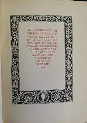 An Anthology of Christmas Prose & Verse: Kelleher, D.L.