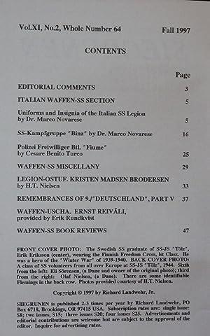 Siegrunen. Number 64, Fall 1997: Landwehr, Richard (editor)