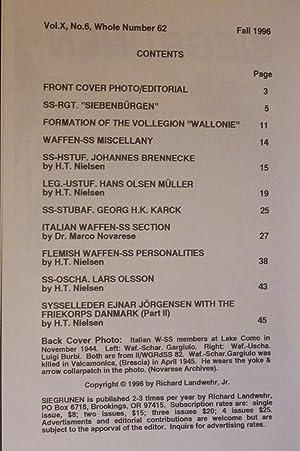 Siegrunen. Number 62, Fall 1996: Landwehr, Richard (editor)