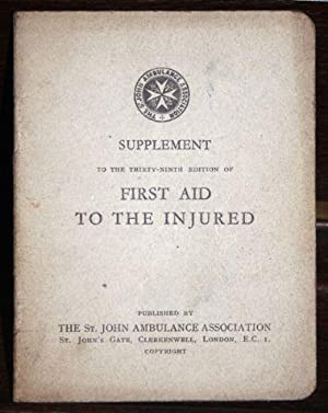 Supplement to the Thirty-Ninth Edition of First: N/A