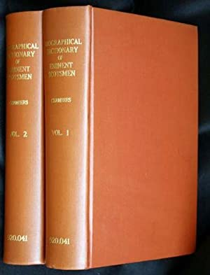 Biographical Dictionary of Eminent Scotsmen,; A (Volumes 1 & 2, containing A-L, only): Thomson,...
