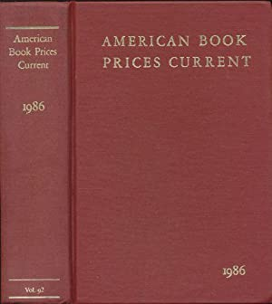 American Book Prices Current 1986, Volume 92