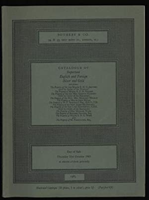 Catalogue of Silver and Gold: Auction catalogue for Sale Thursday 21st October 1965.
