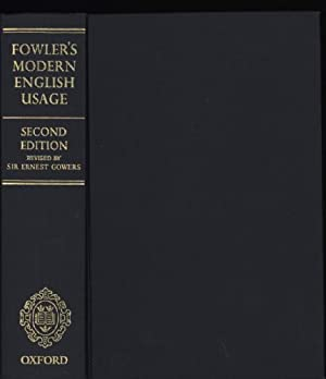 Dictionary of Modern English Usage, A