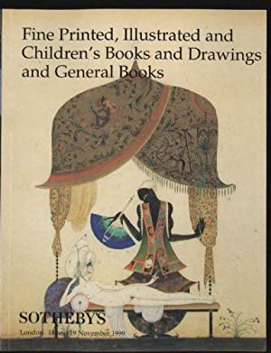 Fine Printed, Illustrated and Children's Books and Drawings and General Books [ Auction catalogue...