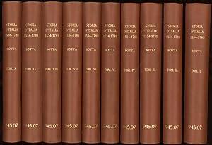Storia D'Italia continuata da Quella del guicciardini, sino al 1789 (volumes I to X): Botta, ...