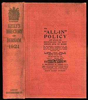 Kelly's Directory of Durham. With coloured map. 1921.: Kelly, A. Lindsay (edited by)